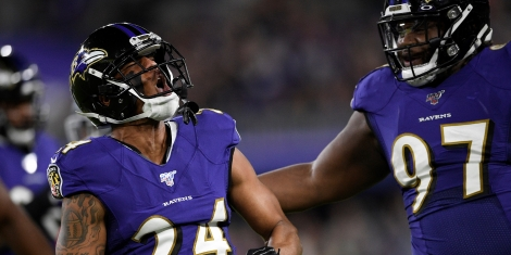 NFL Ravens Marcus Peters rectangle