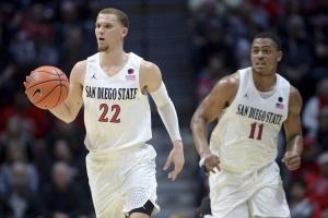 College Basketball Odds SDSU-MalachiFlynn-MattMitchell