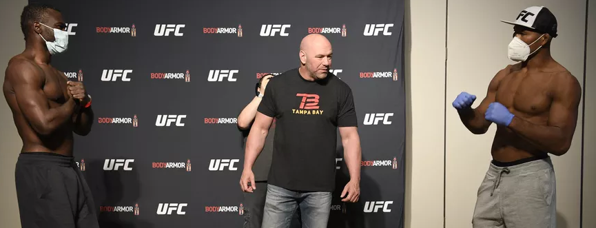 UFC 249 Weigh In Souza Covid-19 positive
