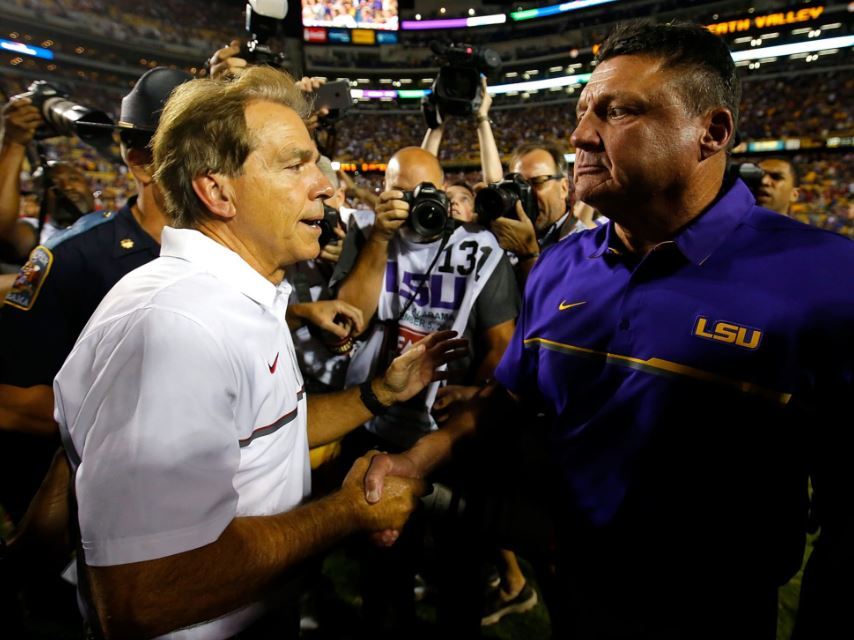 Ed Orgeron vs Nick Saban