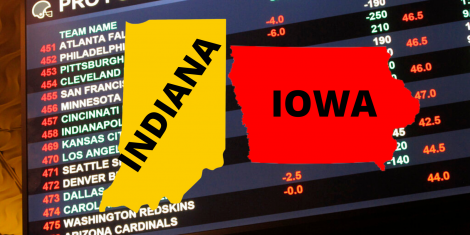 Indiana and Iowa Sports Betting Revenue