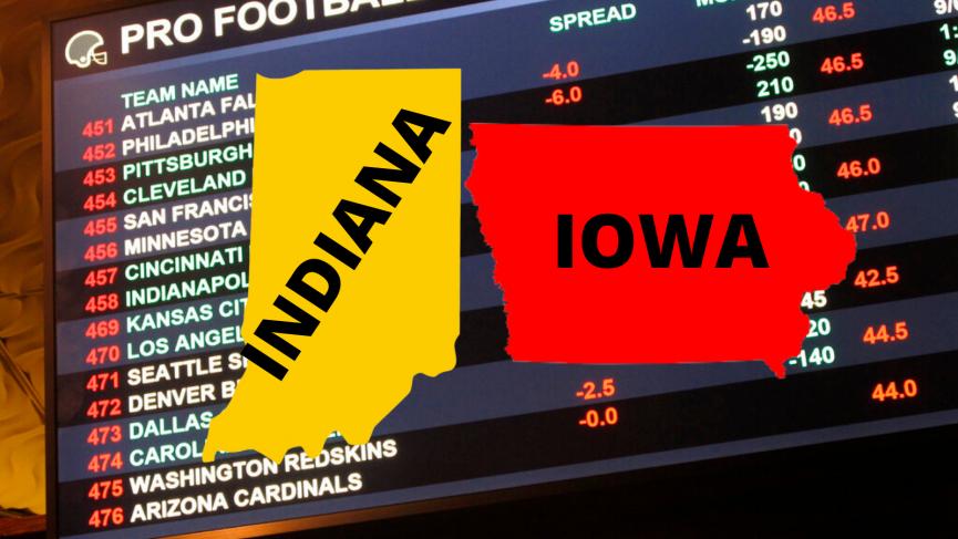 Indiana and Iowa Sports Betting Revenue