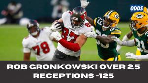 Rob Gronkowski Over 2.5 receptions +125