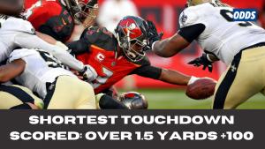 Shortest Touchdown Scored Over 1.5 yards +100