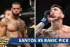Thiago Santos vs Aleksandar Rakic ODds