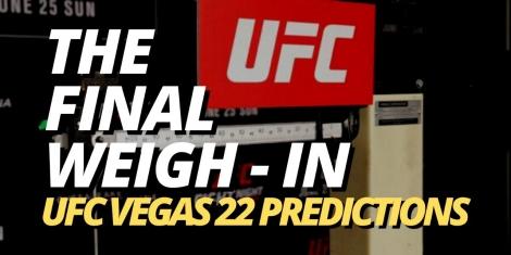 UFC Vegas 22 Odds